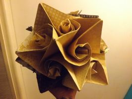 Big Yellow Curler Kusudama by lovechairmanmeow