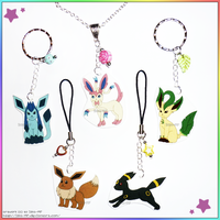 Handmade Eeveelution Necklaces Charms Keychains by izka-197