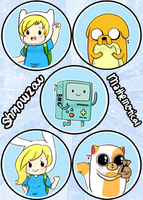 Adventure Time Button Set by CuddlyCapes