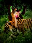 Fairy Riding Tiger by TrayMead