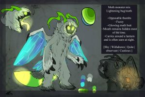 Moth-lightening bug- monster - cute thing by Whitefeathur