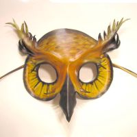 Horned Owl Leather Mask by teonova