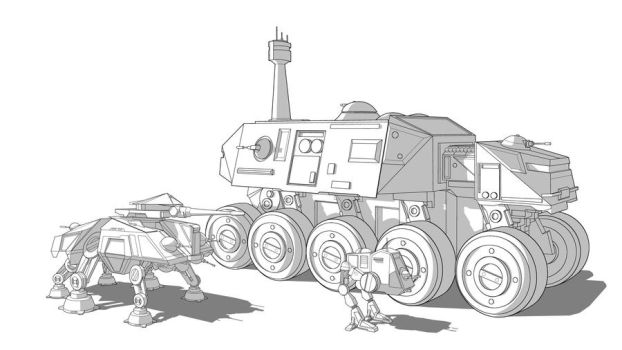 Star Wars Clone Vehicles Combi by Obhan