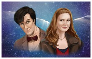 11th Doctor and Amy by ShadesOfEarth