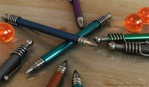 Pens and Marbles Version 1 by binaryriot