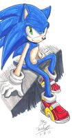 .:Sonic Sitting:. COLORED by Shadystar95