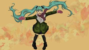 Miku fall by nuriamoon