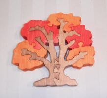 Fall Tree Design - Puzzle by PeachieOriginals