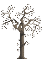 Dead Winter Tree Pixel Art by BaronBLACK