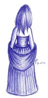 Girl in a Blue Dress by Heather-Briana