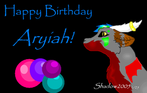 Happy Birthday Aryiah by blackwolfdiamond