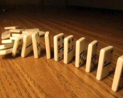 Photography - Falling Dominoes (Final) by watermelemon