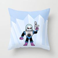 bite size Mr Freeze on pillow in my society6 store by IDROIDMONKEY