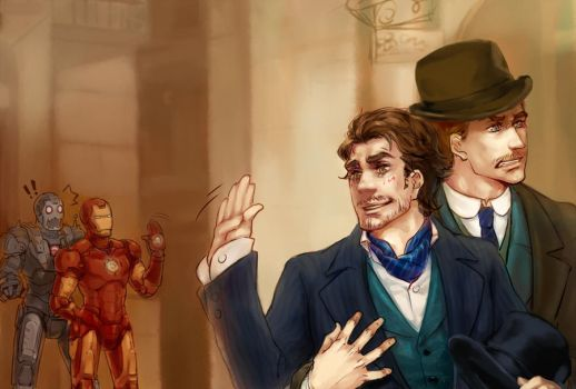 Iron Man and Sherlock Holmes by whodemonf