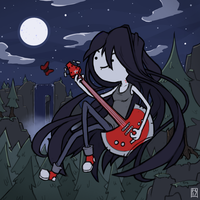 Marceline and a butterfly by PtatoPi3