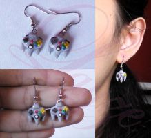N64 joystick earrings by LayzeMichelle