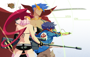 Gurren Lagann - Spin On by MichaelMayne
