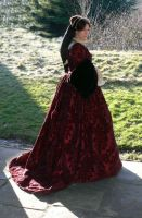 red tudor gown by Abigial709b