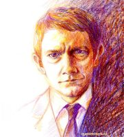 Martin Freeman by queenstardust