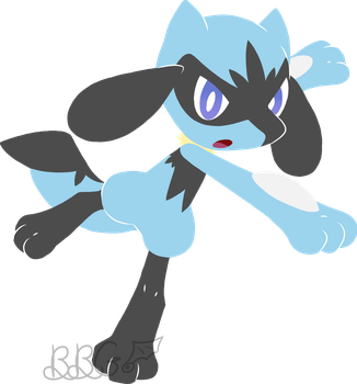 Pokemon OC Design: Riolu by BattyLittleGamer