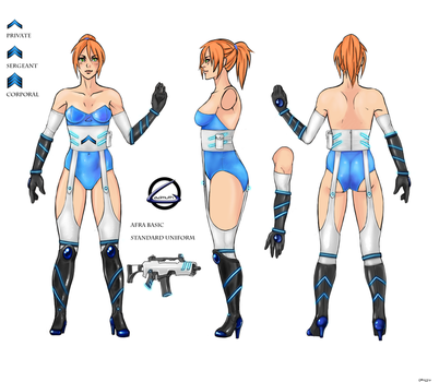Afra Soldier design template by Chizzil