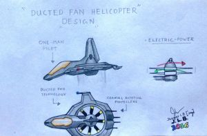 Ducted Fan Helicopter Design by SammfeatBlueheart