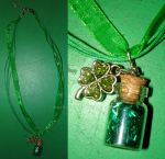 Irish Luck - Bottle Charm - Necklace by Wilhelmine