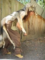 Timber wolf dance costume by lupagreenwolf