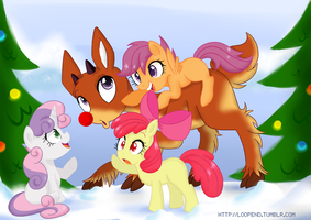 Playing with Rudolph by PijinPyon