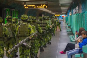 Swedish Life Guards in the Metro 1 by JRL5
