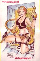 LARA CROFT TOMB RAIDER art by RODEL MARTIN by rodelsm21