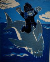 Jumping the shark coloured by pie-lord
