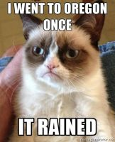 Grumpy Cat Meme-about Oregon- by RoninHunt0987