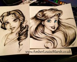 Belle and Ariel by Ambsmarsh