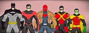 Batman and sons by DraganD