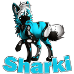 Sharki chibi/badge by Flemaly
