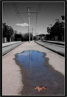 Puddle on the Tracks by Fukfire