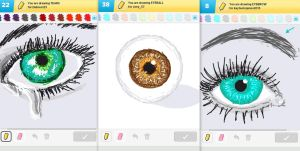 Draw Something!!! (eye edition) (Day 101) by Hedwigs-art
