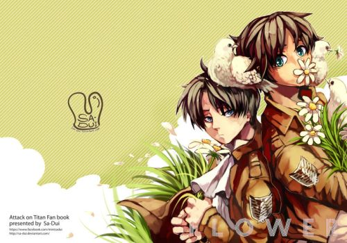 Attack on Titan : flower doujin cover by Sa-Dui