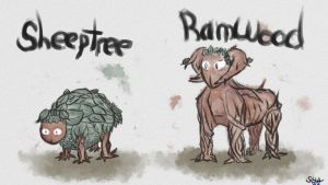 Sheeptree and Ramwood by TheGlassKingdom