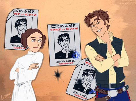 Disney!Han + Leia [Star Wars/Tangled] 2.0 by Luxris