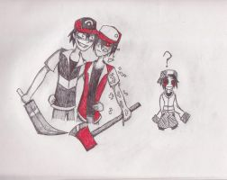 CreepyPasta - ASH vs RED by Dante6499