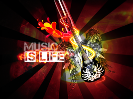MUSIC IS LIFE + by Discopada