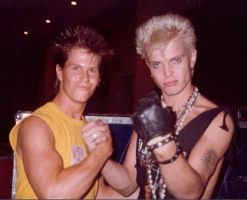 my friend and Billy Idol by Doctor-Pencil