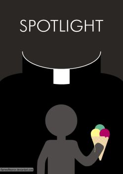 Spotlight Minimalist Poster by flameoffeanor