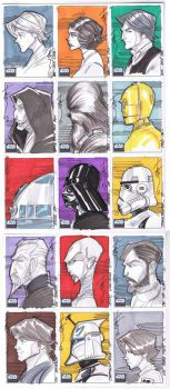 SW Galaxy 6 01 Sketch cards by Hodges-Art