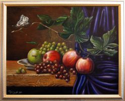 Apples and grapes by chebot