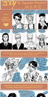 Character Obsession Meme: All my babus by Zommbay