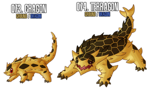 Fakemon: 73 - 74 by DrCrafty