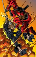 Deadpool Vs Kuma by dovianax